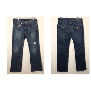True Religion Size 34 Ricky Big T Distressed Jeans